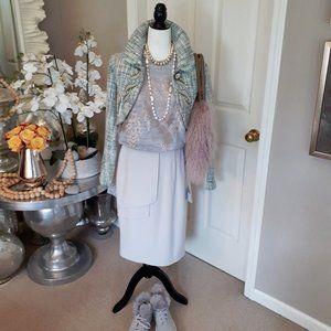 Kenzie tweed metallic embellished bolero jacket